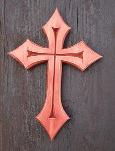 Vyřezávaný kříž do špiček 21 cm - 1