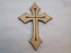 Vyřezávaný kříž do špiček - 25cm