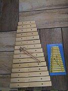 Xylofon natur Zdík. - 43 cm