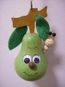 Závěsná hračka - hruška zelená - 1