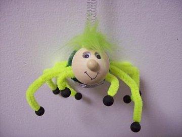 Závěsná hračka - pavouk pro štěstí zelený - 1