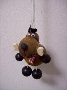 Závěsná hračka - Pes tmavý - 1