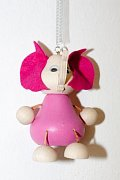 Závěsná hračka - Růžový slon