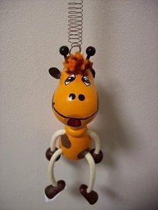 Závěsná hračka - Žirafa oranžová - 1